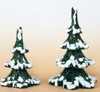 Hubrig Winterkinder 2er Set Winterbaum 6 / 8 cm